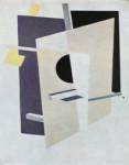 Imagen: El Lissitzky. PROUN interpentrating planes, 1921.