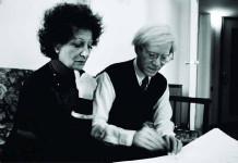Carol Rama y Andy Warhol en una imagen de archivo.