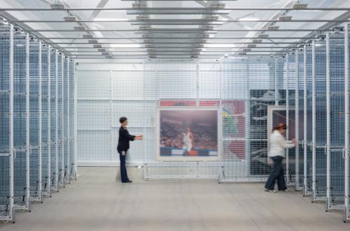 Imagen interior del museo <b>The Broad</b>. Fotografía de Iwan Baan.