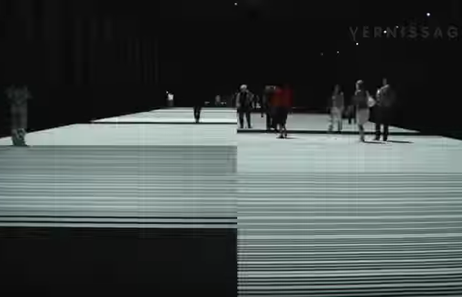 "Ryoji Ikeda. ""Test Pattern 100 m Version""."