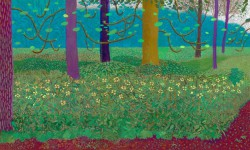 David Hockney. Under the Trees, Bigger, 2010–2011.