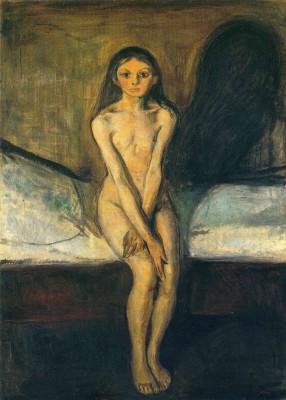 Edvard Munch. Pubertad, 1894.