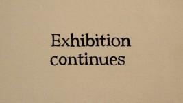 Ignasi Aballí. Imagen texto (Exhibition continues), 2012.