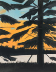 Alex Katz. Atardecer 1 (Sunset 1), 2008.