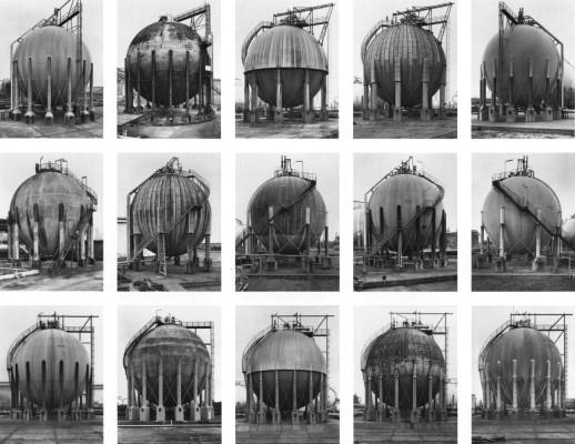 Bernd and Hilla Becher. Gas Tanks, 1983-1992.