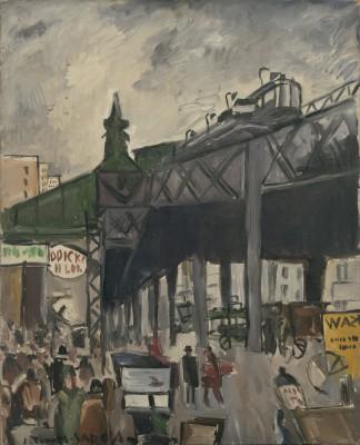 Joaquín Torres-GarcíaStreet Scene, New York, 1920-22.