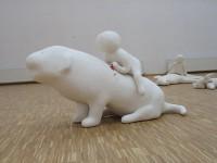 Una de las piezas de Iza Tarasewicz en una exposición anterior.