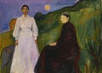Edvard Munch. Madre e hija, 1987.