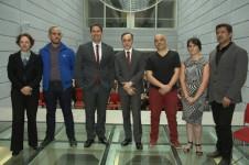 El equipo curatorial de la 10 Bienal de Mercosul durante la presentación de su proyecto en julio de 2015.