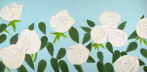 Alex Katz. Rosas blancas 9 (White Roses 9), 2012.