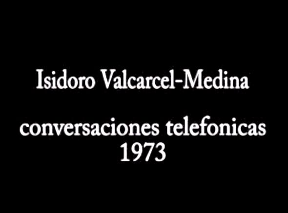 Conversación telefónica con Valcárcel Medina