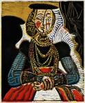 Pablo Picasso. Busto de una dama, según Lucas Cranach el Joven II, 1958.