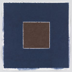 Ellsworth Kelly. Colored Paper Image XX (Brown Square with Blue) from Colored Paper Images, 1976
