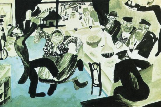 Marc Chagall. Boda judía, 1910