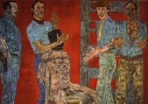 Leon Golub. Interrogation I, 1981