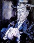Álvaro Delgado. Retrato Antonio Machado,1972