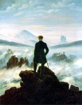 Caspar David Friedrich. Wanderer above the Sea of Fog, 1818