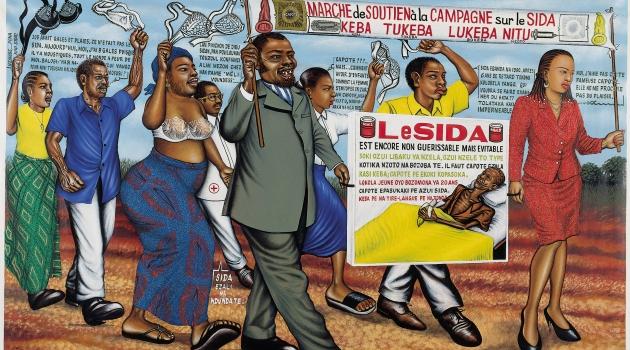 Chéri Samba. Samba Marche,1988