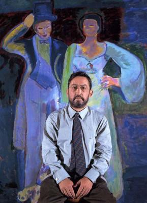 El pintor Juan Antonio Aguirrre.