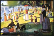 Georges Seurat. Tarde de domingo, 1886.