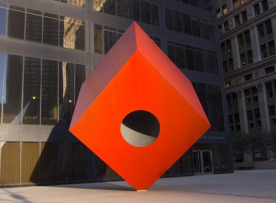 Cubo rojo, Nueva York, 1968.
