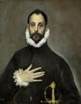 El caballero de la mano en el pecho. El Greco.