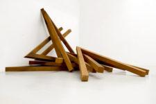 Angles, 2010, Cor-ten steel Site-specific, variable dimensions – Mücsarnok Kunsthalle, Budapest, Hungary, 2012 Photo © Archives Bernar Venet, New York