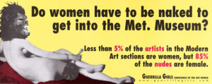 Poster, Do Women Have to be Naked to Get into the Met. Museum?,