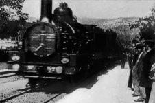 Auguste y Louis Lumière, Arrivée d'un train à la Ciotat, 1895. © Institut Lumière