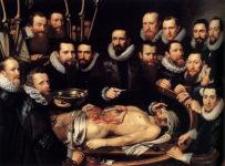 Michael Jansz Van Mierevelt. Lección de anatomía del Dr. Willem Van der Meer, 1617
