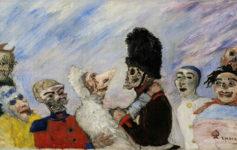 James Ensor, Squelette arrêtant masques