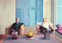 David Hockney, Christopher Isherwood and Don Bachardy, 1968