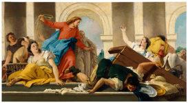 Giovanni Battista Tiepolo, La expulsión del templo de los mercaderes
