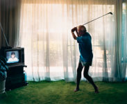 Larry Sultan, Practicing golf swing, 1984