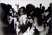Rafael Canogar, Los manifestantes, 1969. Cortesía de CEART