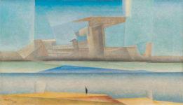 Lyonel Feininger, La isla, 1923. © Cortesía Moeller Fine Art, Nueva York