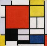 Piet Mondrian, Composition with large red plane yellow black gray and blue, 1921. © Cortesía de  Gemeentemuseum Den Haag