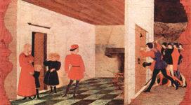 Paolo Uccello, Una escena en la predela de Corpus Domini