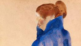 Egon Schiele, (fragmento) Frau in einem blauen Kleid, 1911. Colección Alicia Koplowitz-Grupo Omega Capital