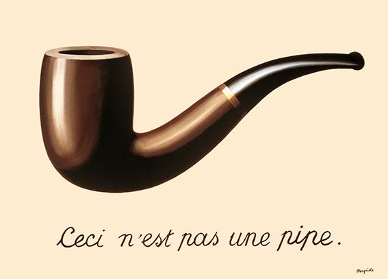 Manzana, rojo, puerta: Magritte/Broodthaers